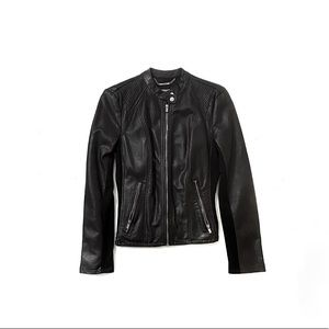 Express Black Faux Leather Jacket